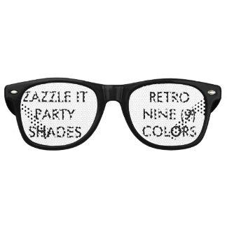 El fiesta retro personalizado personalizado gafas de fiesta retro