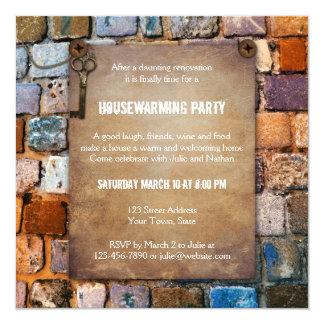 El fiesta rústico del estreno de una casa del invitación 13,3 cm x 13,3cm