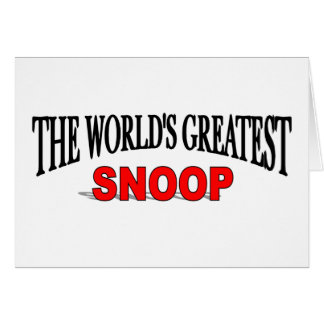 El fisgón más grande del mundo tarjeta de felicitación