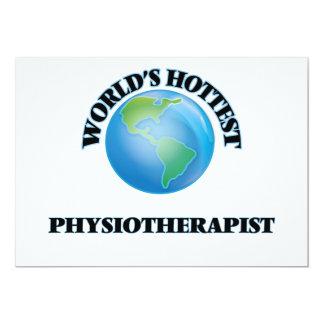 El fisioterapeuta más caliente del mundo invitación 12,7 x 17,8 cm