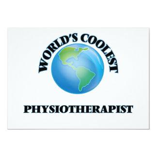 El fisioterapeuta más fresco del mundo invitación 12,7 x 17,8 cm