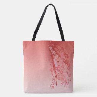el flamenco del hibisco empluma la bolsa de asas