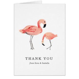 El flamenco le agradece cardar tarjeta pequeña