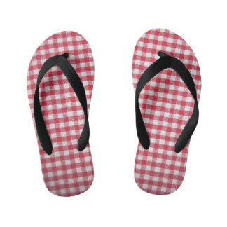 el flip-flop de la guinga del niño rojo del modelo chanclas para niños