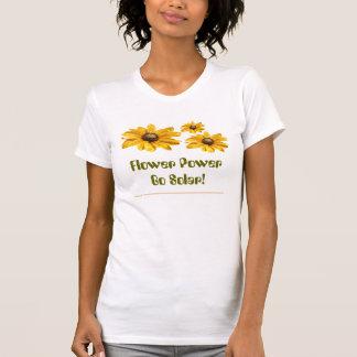 ¡El flower power va solar! Camisetas
