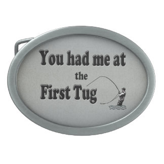 El Flyfishing: ¡Usted me tenía en el primer tirón! Hebilla Cinturón Oval