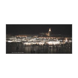 EL Fna Marrakesh cuadrada, Marruecos de Jamaa Lona Envuelta Para Galerías