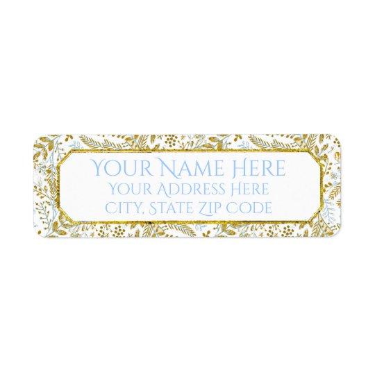 El follaje de la acuarela personaliza etiqueta de remitente
