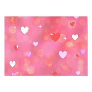 El fondo de la tarjeta del día de San Valentín Invitación 12,7 X 17,8 Cm