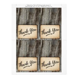 el fondo de madera, vintage le agradece cardar flyer
