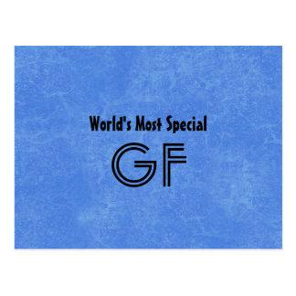 El fondo más especial del azul del padrino del postal