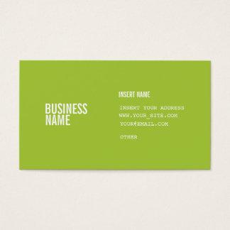 El formato verde moderno con las columnas condensó tarjeta de negocios