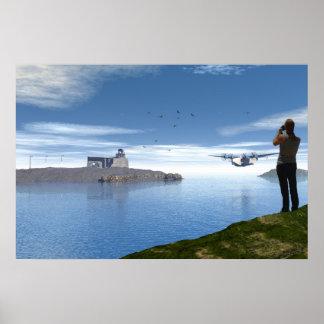 El fotógrafo y el hidroavión póster