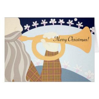 ¡El Fox, Felices Navidad! Tarjeta De Felicitación