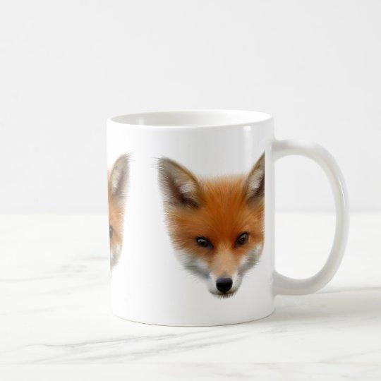 El Fox rojo Cub asalta Taza De Café
