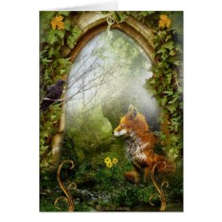 El Fox y el cuervo Tarjeta