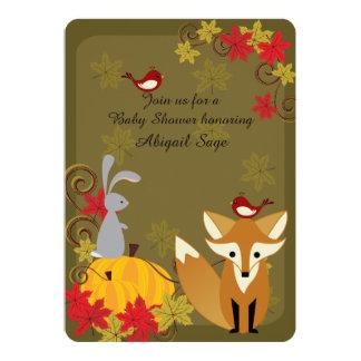 El Fox y la fiesta de bienvenida al bebé animal de Invitación 12,7 X 17,8 Cm