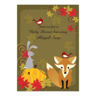El Fox y la fiesta de bienvenida al bebé de la Invitación 12,7 X 17,8 Cm