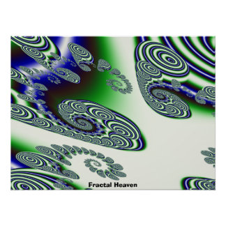 El fractal Sins la dicha Waves5 radial, cielo del  Posters