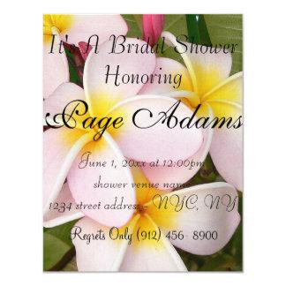 El Frangipani hawaiano de la hawaiana florece Invitaciones Personales