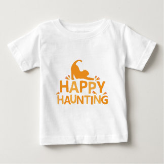 el frecuentar feliz con el gato y el maíz camiseta de bebé