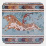 El fresco del Toreador, palacio de Knossos, Creta Pegatina Cuadrada