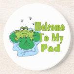 El Froggy dice la recepción a mi cojín Posavasos Para Bebidas