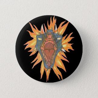 El fuego del dragón chapa redonda de 5 cm