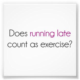 ¿El funcionamiento atrasado cuenta como ejercicio? Fotografía