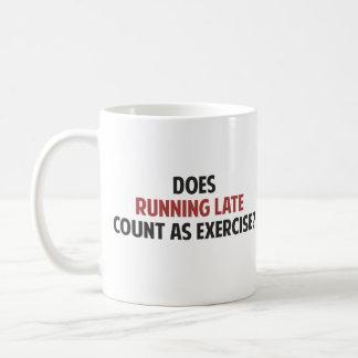 ¿El funcionamiento atrasado cuenta como ejercicio? Taza De Café