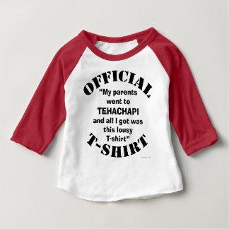 """El FUNCIONARIO """"mis padres fue a Tehachapi…"""" Camiseta De Bebé"""