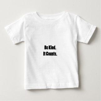 """El funcionario """"sea bueno. Cuenta."""" Engranaje Camiseta De Bebé"""
