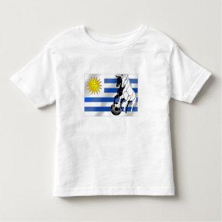 El futbol 2010 de Charruas del fútbol de Uruguay Camiseta De Bebé