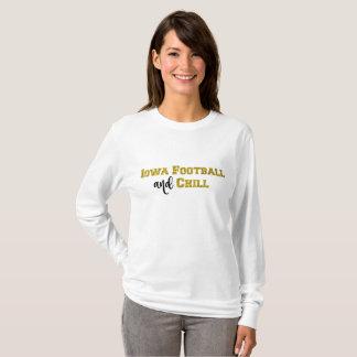 El fútbol de Iowa y enfría el top del purpurina