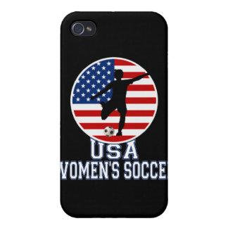El fútbol de las mujeres de los E.E.U.U. iPhone 4 Cárcasa