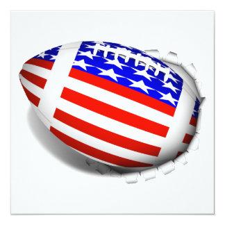 El fútbol de los E.E.U.U. (2) rasga lejos Invitación 13,3 Cm X 13,3cm