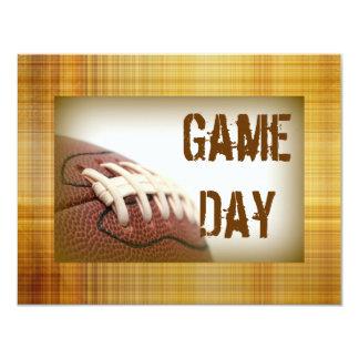 El fútbol del día del juego invita invitación 10,8 x 13,9 cm