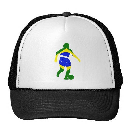 El fútbol el Brasil de las mujeres Gorro De Camionero