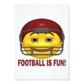 El fútbol es diversión invitación 12,7 x 17,8 cm