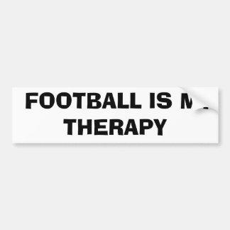 El fútbol es mi terapia pegatina para coche