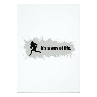 El fútbol es una manera de vida invitación 12,7 x 17,8 cm
