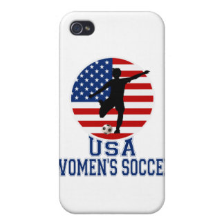 El fútbol i de las mujeres de los E.E.U.U. iPhone 4 Carcasa