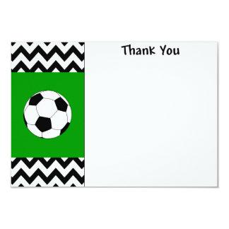 El fútbol le agradece las tarjetas de nota invitación 8,9 x 12,7 cm