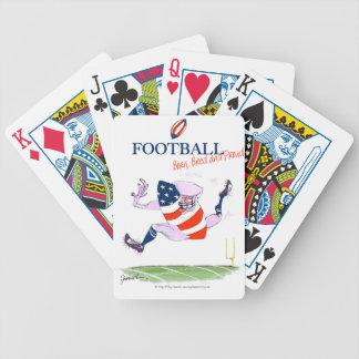 El fútbol llevado crió fernandes orgullosos, tony baraja de cartas bicycle