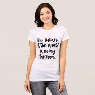 El futuro del mundo está en mi camiseta de la sala
