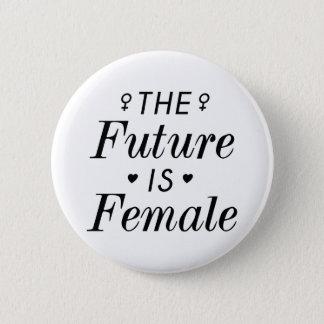El futuro es femenino chapa redonda de 5 cm