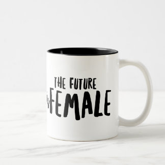 El futuro es negro femenino taza del Dos-Tono de
