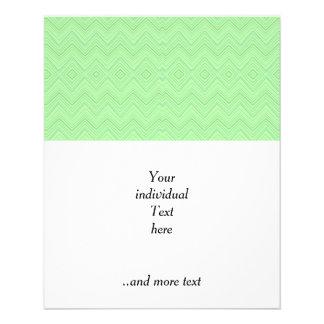 el galón zigzag modela verde claro tarjeta publicitaria