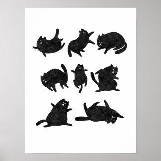 El gandulear de los gatos negros póster