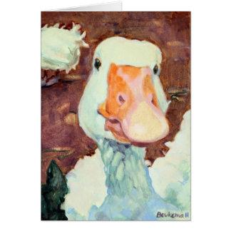 El ganso más feliz del granero tarjeta de felicitación